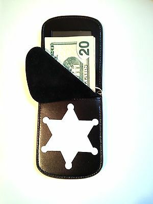 RFID Badge Wallet 6 point Star Front Pocket Badge Wallet ID C/Card B-1056