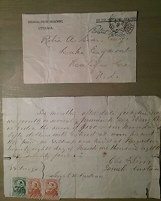 kerryyw Canada OHMS stampless 1902 front and promisary rev. note