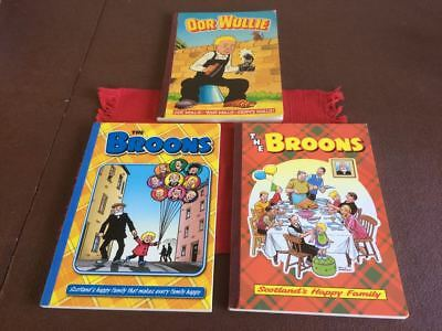 Annuals - Oor Wullie 1988, The Broons 1997 & 2009