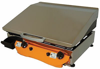 LPG Gas Griddle Hot Plate Barbecue 51x40  ELEGANCE 51 LID