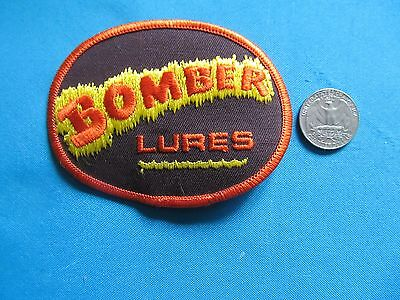 *** 1 Vintage Rare Bomber Lures Fishing Outdoor Sportsman Patch Crest  ***