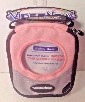 New Hasbro Video Now Pink/Grey Carry Case with Hand Stra PVDs