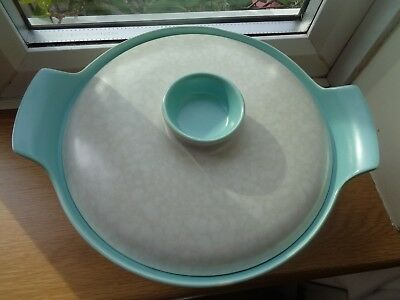 Poole Pottery C57 Twintone Tureen / Casserole Dish, Ice Green and Seagull.