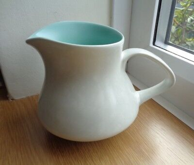 Poole Twintone Pottery - Ice Green and Seagull 9cm High  Milk Jug