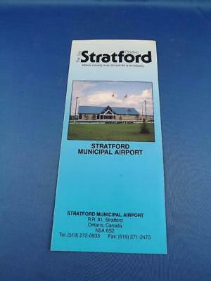 Stratford Municipal Airport Advertising Brochure Canada History Location