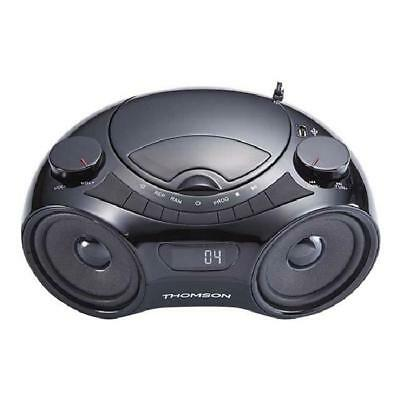 THOMSON RCD210U Radio Lecteur CD / MP3 portable - Noir