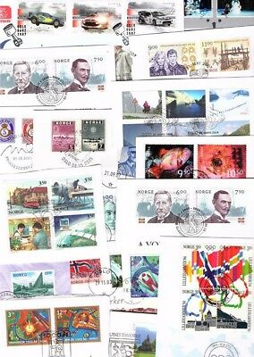 NORWAY Deluxe kiloware on paper with high values, sets and 4 miniature sheets