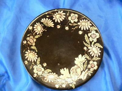 Antique Swiss THOUNE Hand Painted Pottery Floral plate   Majolika
