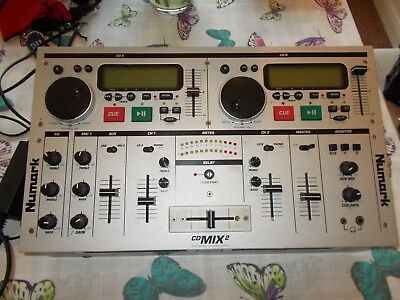 USED NUMARK CDMIX2 PORTABLE COMBINED DUAL CD PLAYERS AND MIXER. Mobile Disco