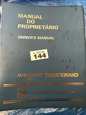 Caetano Owners Manual Bus Part Ref 144