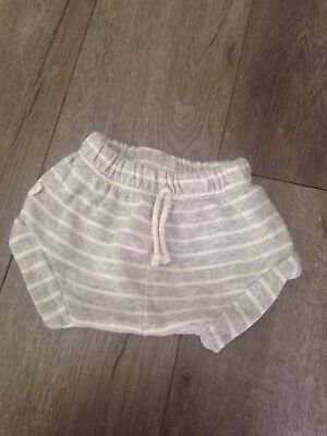 Childhoods Clothing Grey And White Striped Shorties 6-12 Months