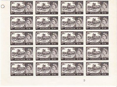 Gb Block Of 20 Castle Stamps