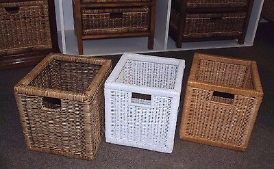 30 storage basket ... wicker draw ... mixed colours