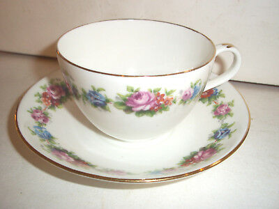 1 pretty vintage porcelain shelley cup & saucer 1 of 10 to sell
