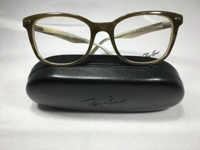🔸New Authentic Ray Ban RB 5285 5154 Olive Green 53mm Eyeglass Frames W/Case
