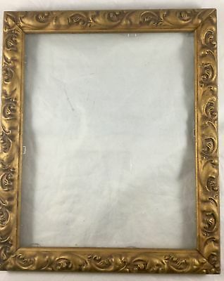 Vintage Ornate Carved Wood Gold Painted Picture Frame 8×10 Baroque Style