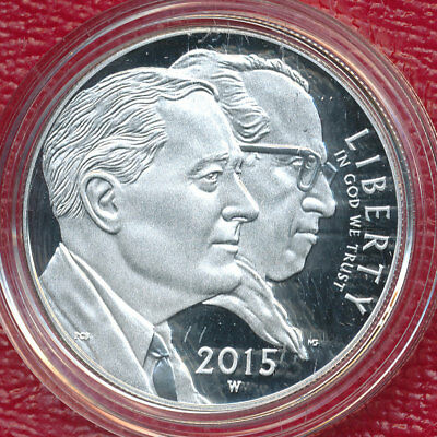2015-W March Of Dimes Silver Proof Dollar **mint-Issued Box & Coa** Beautiful!