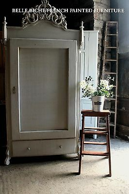Original Antique Hand Painted French Armoire
