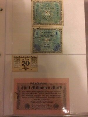 55 World banknotes - used /mint (acquired collection)