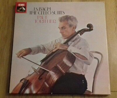 J.S. Bach The cello suites - Paul Tortelier triple vinyl LP