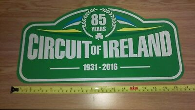 Circuit of Ireland Rally plate rare, New collectable. No reserve 99p start.