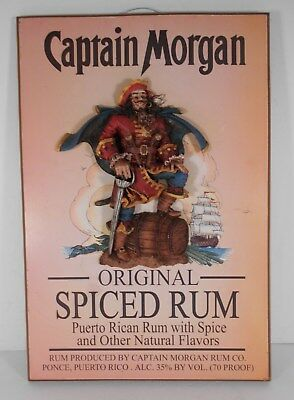 CAPTAIN MORGAN Spiced Rum 3-D Wooden Plaque Sign