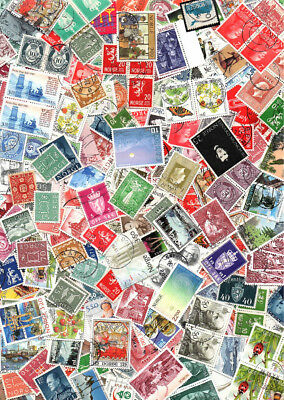 NORWAY off paper kiloware / stamp mixture. Hundreds of stamps, small and large.