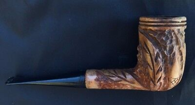 ANCIENNE PIPE BRUYERE SAINT CLAUDE sculptee ANTIQUE SMOKING INDIEN INDIAN BRIAR