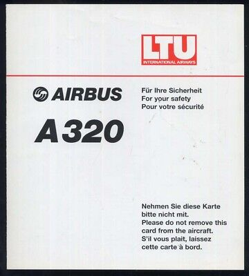 LUFTHANSA German Airline SAFETY CARD 747-8 04//15 air emergency brochure sca20 aa