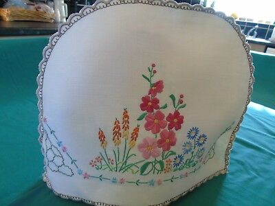 Beautiful,Vintage,Hand Embroidered TEA COSY COVER,Raised Plump Work VGC