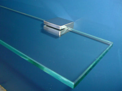 BATHROOM GLASS SHELF 400mm STAINLESS STEEL SHOWER BRAND NEW DESIGN