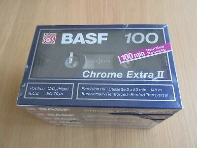 Basf 100 Chrome Cassette Tapes- Pack Of 5