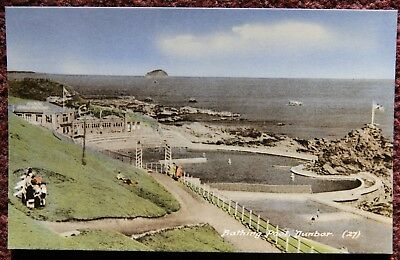 Bathing Pool Dunbar Vintage Photographic Postcard PC East Lothian Scotland