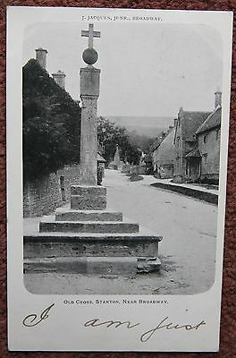 1903 Old Cross Stanton Near Broadway Cotswolds Postcard J Jacques Worcestershire