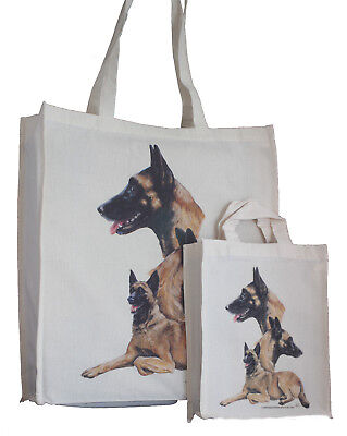 Belgian Malinois Adult & Child Shopping or Dog Treats Packed Lunch etc Tote Bag