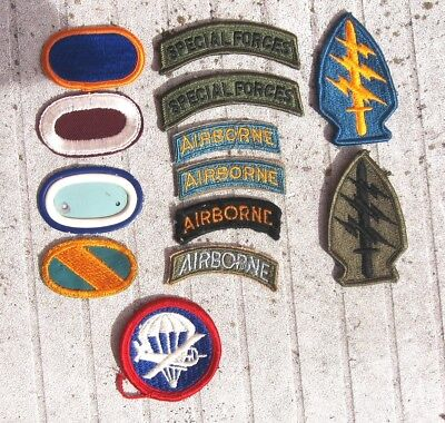 Group Of Airborne Patchs And Tabs