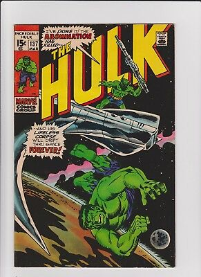 Incredible Hulk 137  VF    cents issue