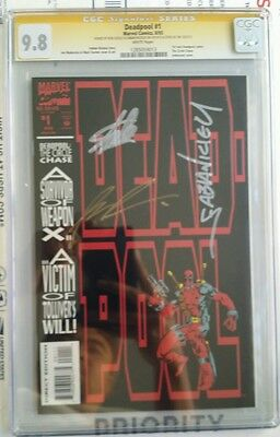 Deadpool #1 93 Circle Chase  CGC 9.8 SS 3X Liefeld Nicieza & Stan Lee on 10/31