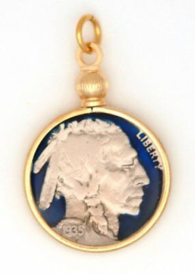 Coin Jewelry US Buffalo Nickel New Pendant Enamel Collector Gift + Box Free Post