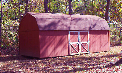 12 x 24 Bald Eagle Wood Storage Barn Garage Shed Out building Tiny House w/loft