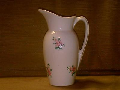 """Vintage Royal Copley Decal Pitcher-6""""-Gold Stamped-Pink Rose-Nice Piece"""