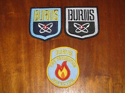 New Lot of 3 CLOTH PATCHES Burns Fire Prevention Inspector Unused
