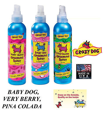 CRAZY DOG PREMIUM CONDITIONING PET COLOGNE SPRAY/SPRITZ Perfume Deodorant Mist