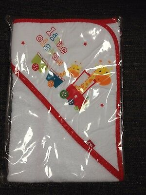 mothercare circus animal white baby hooded towel