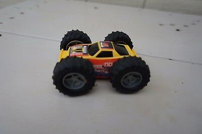 Friction Powered Plastic Toy Car ~ Truck Big Wheels Two Sided