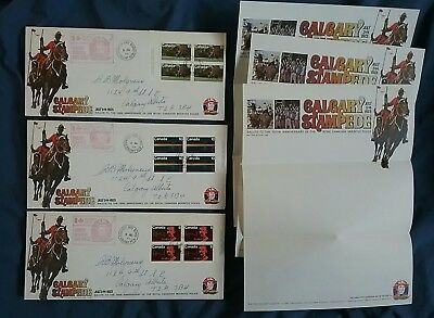 kerryyw  Calgary Stampede Fdc blocks 1973 with Cache pages