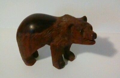 Antique Hand Carved Wooden Bear