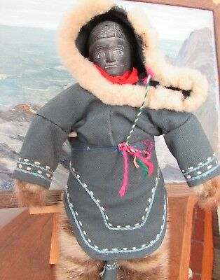 Awesome Old INUIT STONE FACE DOLL