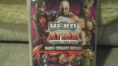 Hero Attax Marvel Cinematic Universe Trading Cards & binder Limited Edition