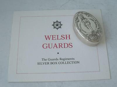 "Solid Sterling Silver ""Welsh Guards"" Box 1979/ L 5.5 cm"